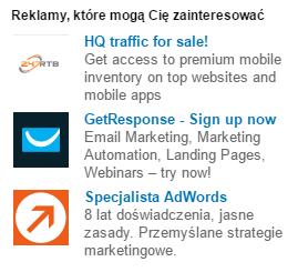 Reklamy tekstowe - reklama na LinkedIn - blog bartek-radniecki.com