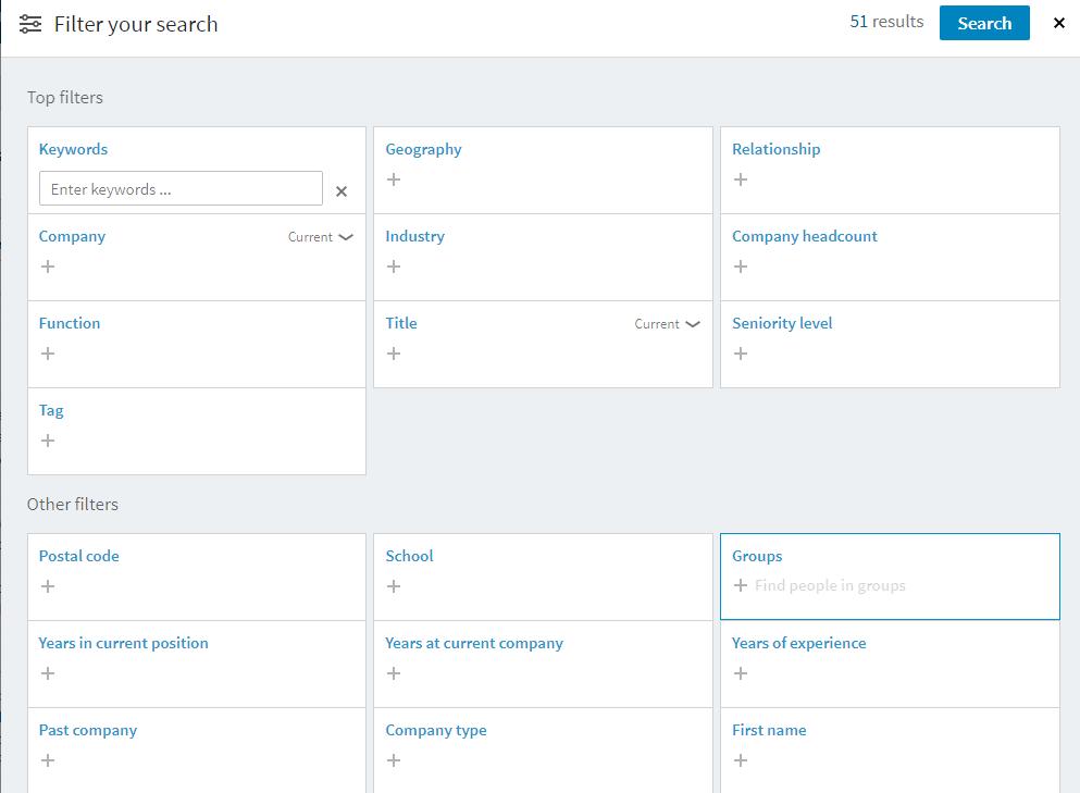 LinkedIn Sales Navigator - wyszukiwanie leadów